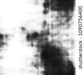 abstract grunge grid polka dot... | Shutterstock . vector #1090756400