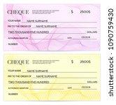 check  cheque   chequebook... | Shutterstock .eps vector #1090759430