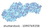 population slovakia map.... | Shutterstock .eps vector #1090769258