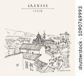 granada  andalusia  spain....   Shutterstock .eps vector #1090769993