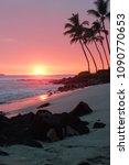 An Orange Hawaiian Sunset On...