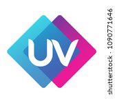 letter uv logo with colorful... | Shutterstock .eps vector #1090771646