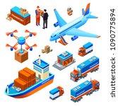 logistics delivery transport... | Shutterstock .eps vector #1090775894