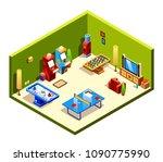 vector isometric cross section... | Shutterstock .eps vector #1090775990