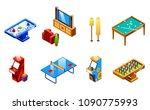 vector isometric recreation...   Shutterstock .eps vector #1090775993