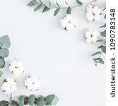 flowers composition. frame made ... | Shutterstock . vector #1090783148