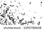 black musical notes on white... | Shutterstock .eps vector #1090788608
