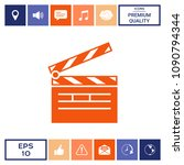 clapperboard icon symbol | Shutterstock .eps vector #1090794344