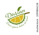 king of fruits  durian vector... | Shutterstock .eps vector #1090806128
