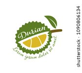 king of fruits  durian vector... | Shutterstock .eps vector #1090806134