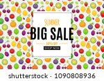 abstract summer sale background ... | Shutterstock .eps vector #1090808936