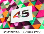 white number 45 on the orange... | Shutterstock . vector #1090811990