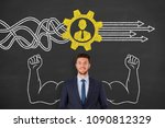 business person drawing service ... | Shutterstock . vector #1090812329