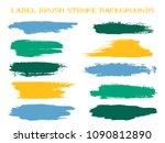 scribble label brush stroke... | Shutterstock .eps vector #1090812890