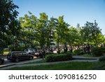 rostock  germany   may 14  2018 ... | Shutterstock . vector #1090816250