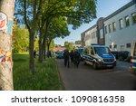 rostock  germany   may 14  2018 ... | Shutterstock . vector #1090816358