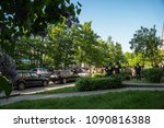 rostock  germany   may 14  2018 ... | Shutterstock . vector #1090816388