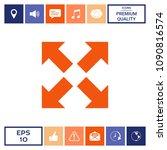 extend  resize icon. cross...   Shutterstock .eps vector #1090816574