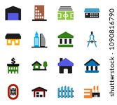 solid vector icon set   drawing ... | Shutterstock .eps vector #1090816790