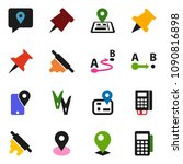 solid vector icon set   ... | Shutterstock .eps vector #1090816898