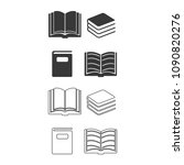 book set vector  icon. | Shutterstock .eps vector #1090820276