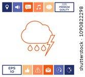 cloud thunderstorm lightning... | Shutterstock .eps vector #1090822298