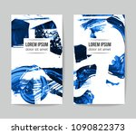 set of vector business card... | Shutterstock .eps vector #1090822373