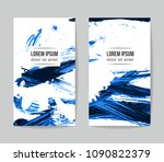 set of vector business card... | Shutterstock .eps vector #1090822379