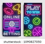 sports betting vertical banner... | Shutterstock .eps vector #1090827050