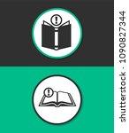 open book vector icon. | Shutterstock .eps vector #1090827344