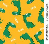 cute dinosaur pattern design as ... | Shutterstock .eps vector #1090829606