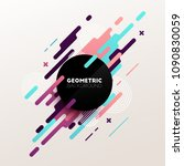 abstract geometric vector... | Shutterstock .eps vector #1090830059