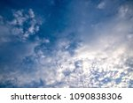 the beautiful cloudy sky on a... | Shutterstock . vector #1090838306