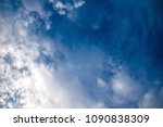 the beautiful cloudy sky on a... | Shutterstock . vector #1090838309