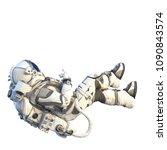 astronaut on white. mixed media | Shutterstock . vector #1090843574