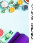 food for fitness  healthy... | Shutterstock . vector #1090843643