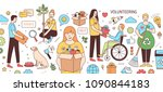 horizontal banner with young... | Shutterstock .eps vector #1090844183