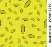 autumn colored seamless pattern ... | Shutterstock .eps vector #1090845350