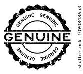 grunge black genuine word round ... | Shutterstock .eps vector #1090848653