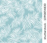 vector tropical palm leaves... | Shutterstock .eps vector #1090854830