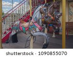 horses on a traditional... | Shutterstock . vector #1090855070