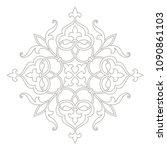 circular floral pattern in... | Shutterstock .eps vector #1090861103