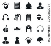 set of simple vector isolated... | Shutterstock .eps vector #1090863734
