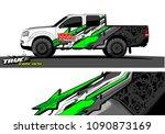 truck wrap design vector.... | Shutterstock .eps vector #1090873169