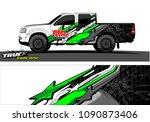 truck wrap design vector.... | Shutterstock .eps vector #1090873406