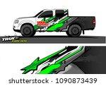 truck wrap design vector.... | Shutterstock .eps vector #1090873439