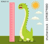 kids meter wall with a cute... | Shutterstock .eps vector #1090879880