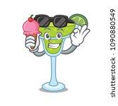 with ice cream margarita... | Shutterstock .eps vector #1090880549