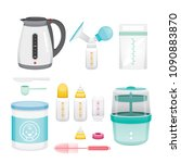 icons set of equipment for... | Shutterstock .eps vector #1090883870