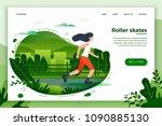 vector illustration   sporty... | Shutterstock .eps vector #1090885130